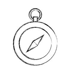 Sketch draw cute compass vector
