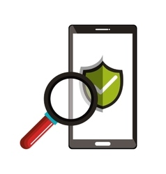 Smartphone checkmark with search design vector