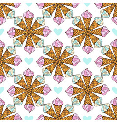 summer pattern with geometrical ornament print vector image vector image