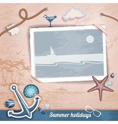 Summer scrapbooking photo album vector
