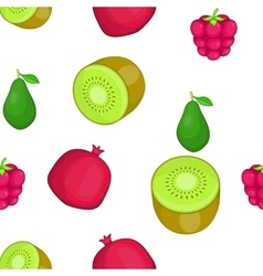 Types of fruit pattern cartoon style vector image vector image