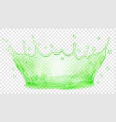 Water crown splash of water transparency only in vector