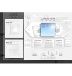 Website Design Template Menu Elements vector image