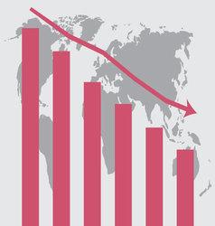 World crisis chart template vector