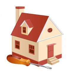 cottage repair vector image