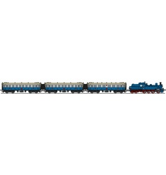 Old blue steam train vector
