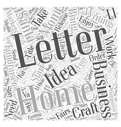 The fun home business of writing santa letters vector
