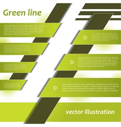 Modern green infographics design vector