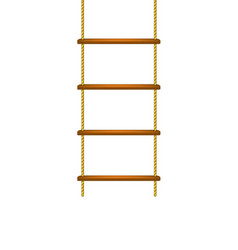 Wooden rope ladder in brown design vector