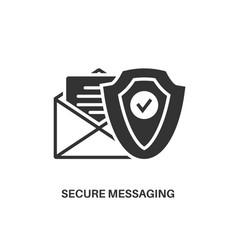 Secure messaging icon vector