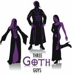 Goth silhouettes vector