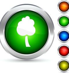 Tree button vector