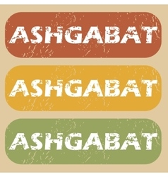 Vintage ashgabat stamp set vector