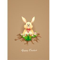 Bunny with floral vector