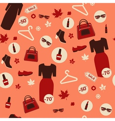 Shopping autumn sale seamless pattern vector