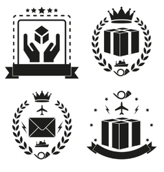 Icons post and delivery vector