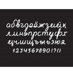 Handwritten cyrillic alphabet vector