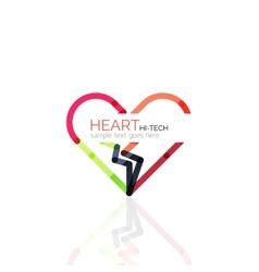 Logo love heart abstract linear geometric vector