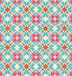 seamless background with floral decorative pattern vector image