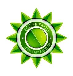 Eco friendly flower label vector image