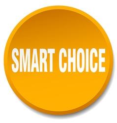 Smart choice orange round flat isolated push vector