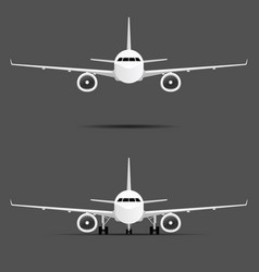 airplane with two motors set vector image vector image