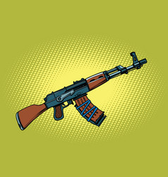 akm soviet automatic weapons vector image vector image