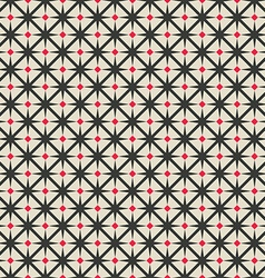 Black and red rhombus seamless geometric pattern vector
