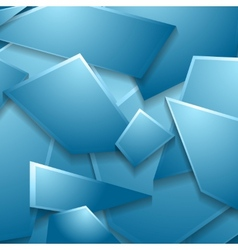 Blue geometric shapes background vector image vector image