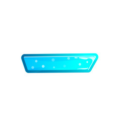 blue user interface tag in cartoon style vector image vector image