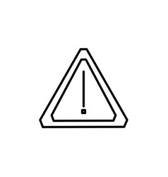 car warning icon vector image