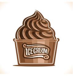 chocolate ice cream vector image vector image