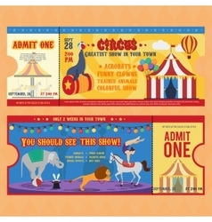 Circus tickets templates vector