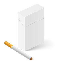 closed full pack of cigarettes on white vector image vector image
