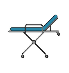 Color image cartoon medical stretcher bed on vector