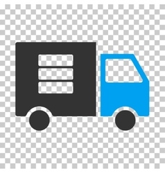 Data transfer van eps icon vector