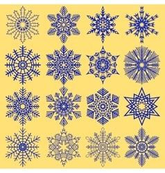 Decorative abstract snowflake vector