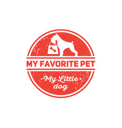 Dog food shop pet products kennel club vector