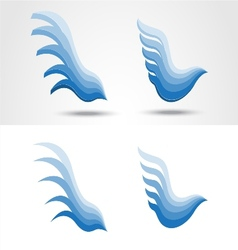 Eagle icon collection vector image