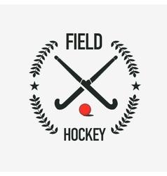 Field hockey team logo sport club badge vector image vector image