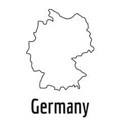 germany map thin line simple vector image