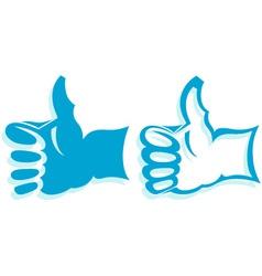 Gesture hand vector image vector image