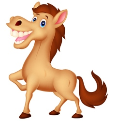 Happy horse cartoon vector image vector image
