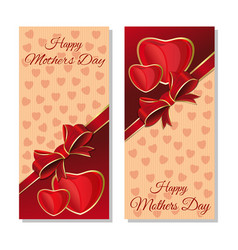 Happy mothers day cards set flyer template vector