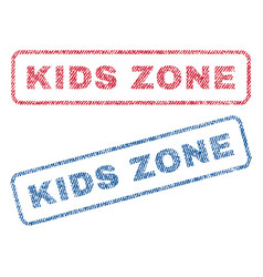 Kids zone textile stamps vector