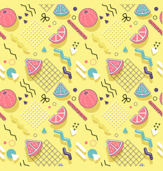 memphis seamless pattern abstract background vector image