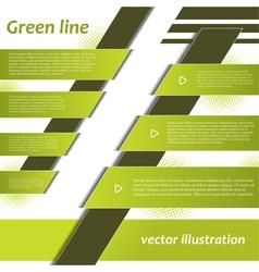 Modern Green Infographics design vector image