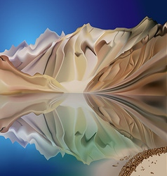 Mountain landscape reflection vector image vector image