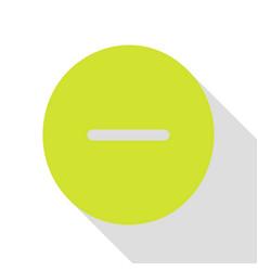 Negative symbol minus sign pear vector
