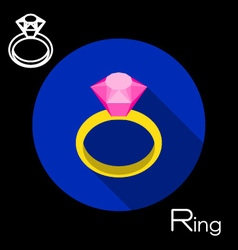 Ring icon vector image vector image
